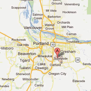 Map of PDX Metro area