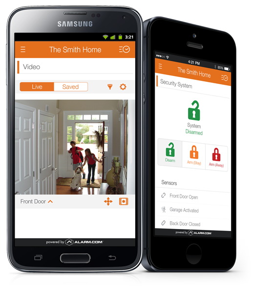 Picture Of Cell Phones With Access To Home Security Systems - OmniGuard Security